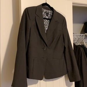 Ann Taylor tweed color lined suit jacket